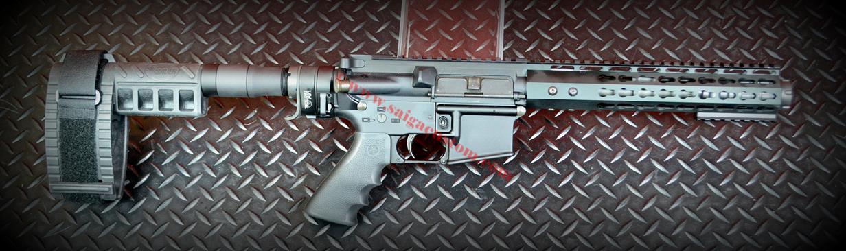 AR-15 Pistol 300AAC w/folding Sig MPX Brace