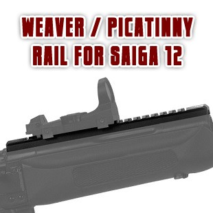 MaxRounds Weaver/Picatinny Rail for Saiga 12