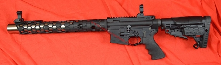 Spikes Billet Lower, Witt Integrated Suppressed 300AAC  NFA Upper.