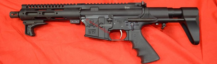Spikes Lower with a Colt Mag style upper, 9MM SBR NFA